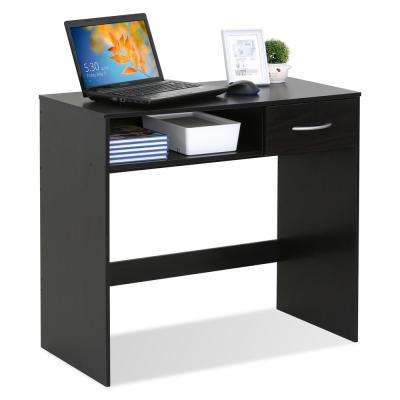JAYA Computer Study Espresso Desk with Drawer