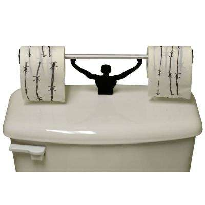 Barbed Wire Toilet Paper in Multi-Color with Strong Man Holder Novelty Gift Set