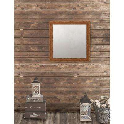 Remington 28.75 in. x 28.75 in. French Antique Wide Framed Antique Mirror
