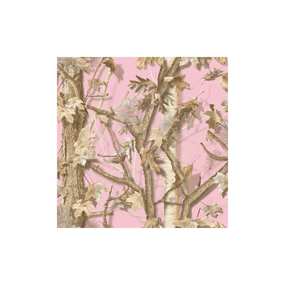 Chesapeake Sawgrass Pink Camo Forest Wallpaper Tll01463