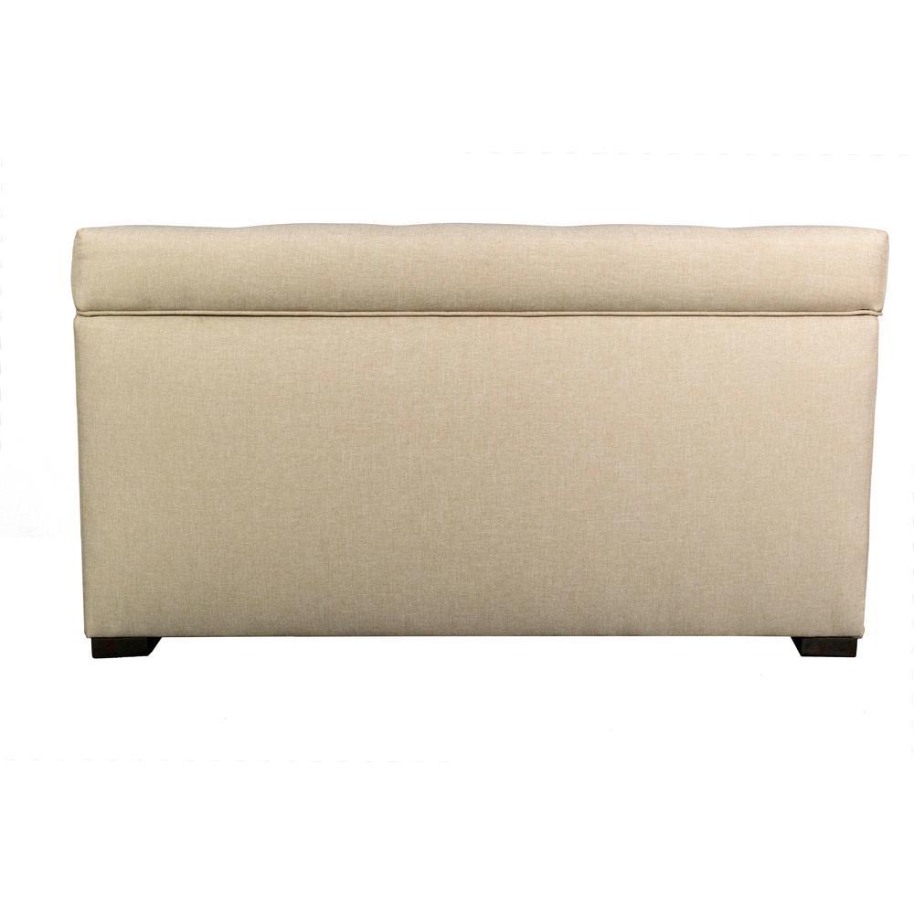 MJL Furniture Designs Angela HJM08 Light Tan Button Tufted Upholstered Storage Trunk