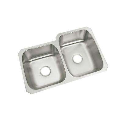 McAllister Under Mount Stainless Steel 32 in. Double Basin Kitchen Sink