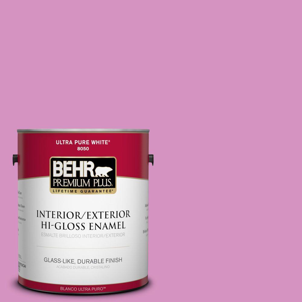 1-gal. #680B-4 Pressed Flower Hi-Gloss Enamel Interior/Exterior Paint
