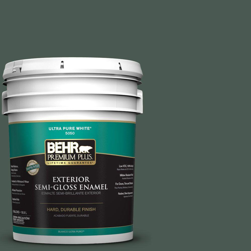 5-gal. #S420-7 Secluded Woods Semi-Gloss Enamel Exterior Paint