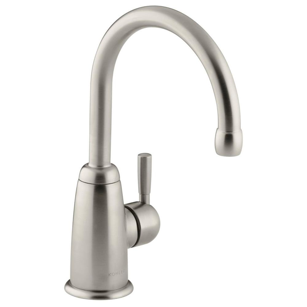Wellspring Single Handle Bar Faucet with Contemporary Design in Vibrant Brushed