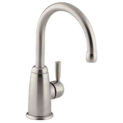 Wellspring Single Handle Bar Faucet with Contemporary Design in Vibrant Brushed Nickel