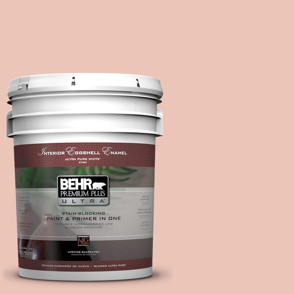 BEHR Premium Plus Ultra Home Decorators Collection 5-gal. #HDC-CT-14 Coral Coast Eggshell Enamel Interior Paint