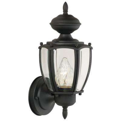 Park Avenue 1-Light Black Outdoor Wall-Mount Lantern