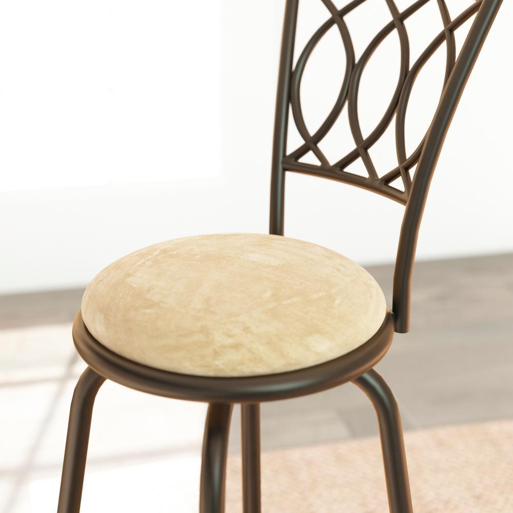 Miraculous Aileen 24 In 29 In Brown Adjustable Bar Stool Set Of 3 Creativecarmelina Interior Chair Design Creativecarmelinacom