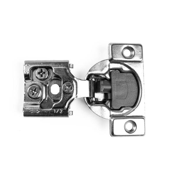 105-Degree 1/2 in. (35 mm) Overlay Soft Close Face Frame Cabinet Hinges with Installation Screws (15-Pairs)