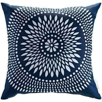 Square Outdoor Throw Pillow in Cartouche
