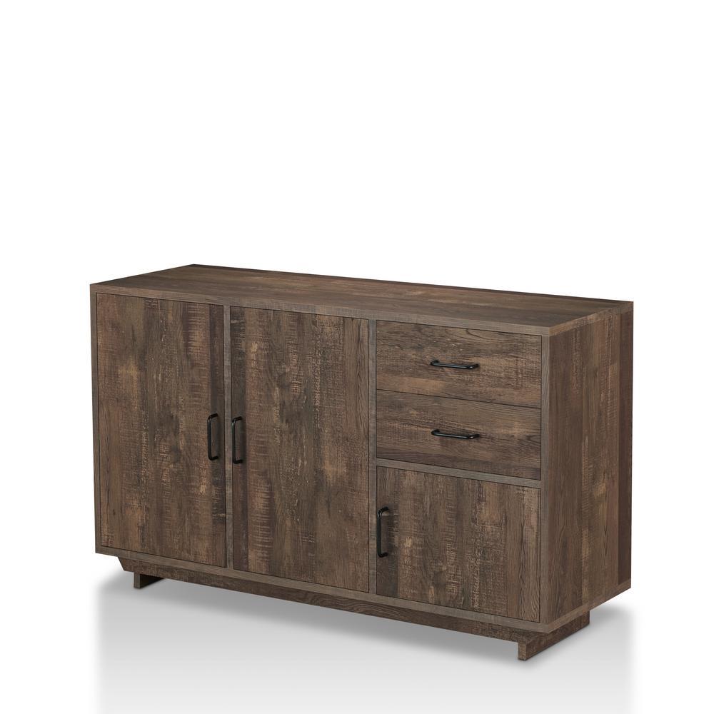 Antsirabe Reclaimed Oak Buffet Server with Adjustable Cabinet Shelves