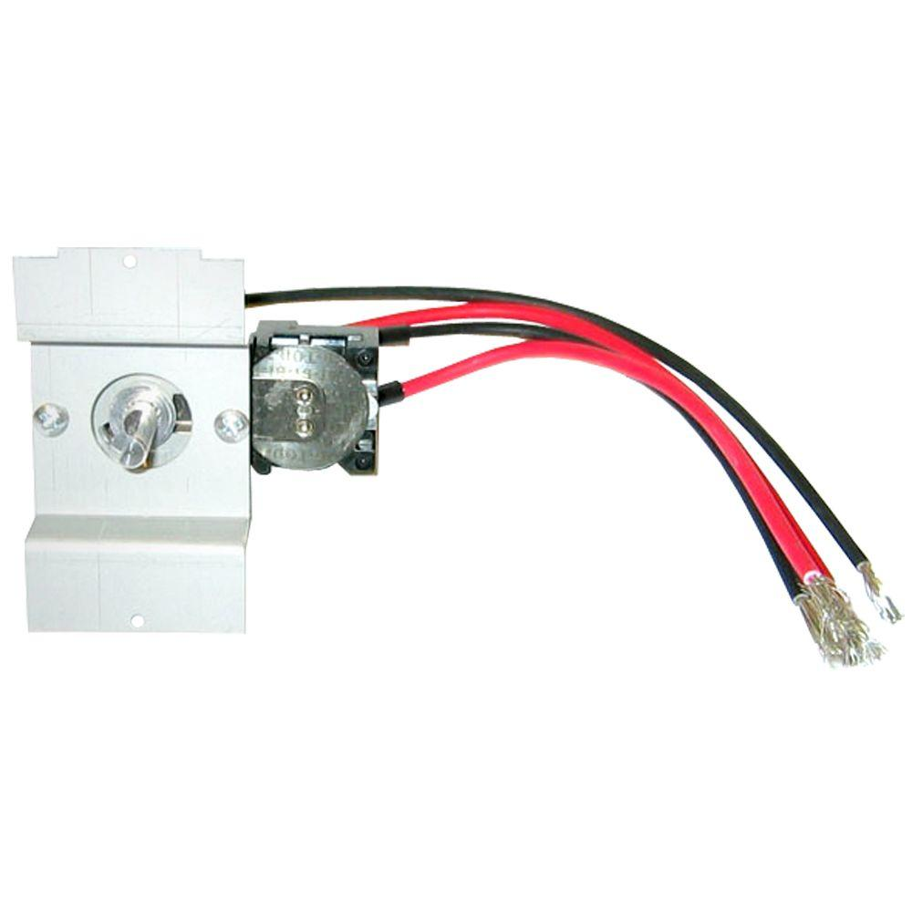 Cadet Perfectoe Series UC White Double-Pole Integral 22 Amp Thermostat Kit
