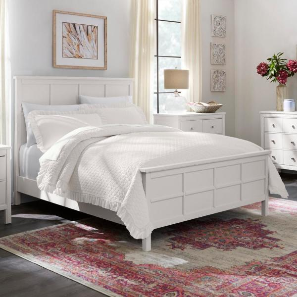 Home Decorators Collection Evalee 3-Piece Ivory Solid Full/Queen Quilt Set
