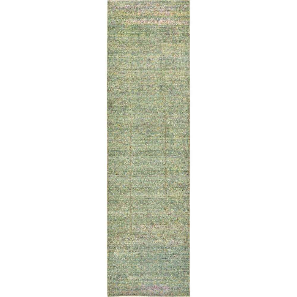 Unique Loom Aria Green 2 Ft. 7 In. X 9 Ft. 10 In. Runner