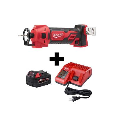 M18 18-Volt Lithium-Ion Cordless Dyrwall Cut Out Tool with M18 Starter Kit with One 5.0Ah Battery and Charger