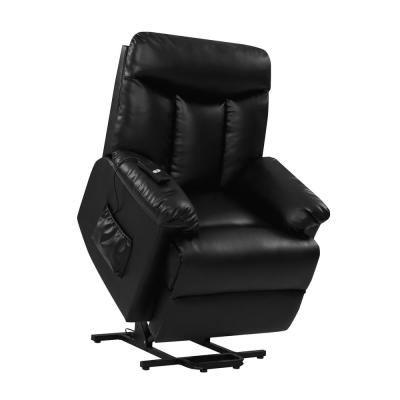 Black Lift Recliner in Tuff Stuff Fabric