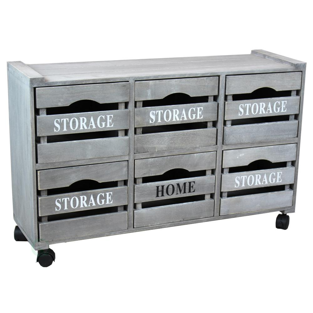 32.25 in. W x 18.38 in. Rustic Gray Cabinet Storage Chest...