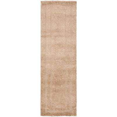 Florida Shag Beige 2 ft. x 10 ft. Runner Rug