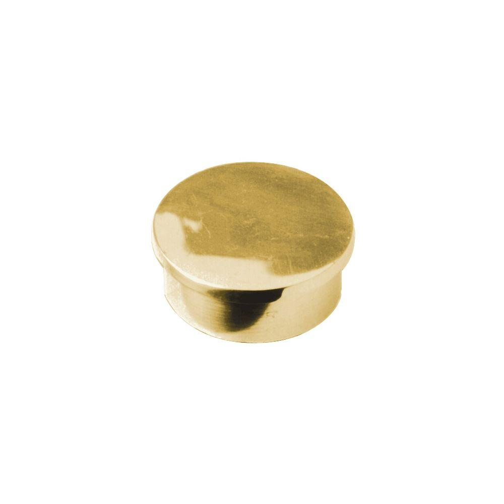 Polished Brass Flush End Cap for 2 in. Outside Diameter Tubing