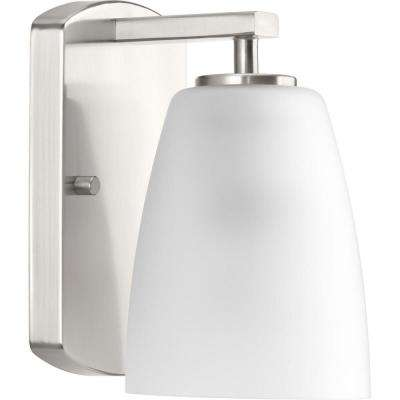 Leap Collection 1-Light Brushed Nickel Bath Light