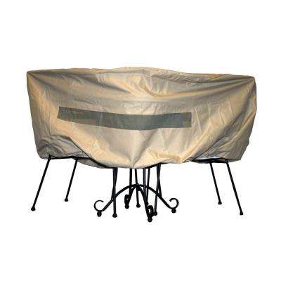 Polyester Patio Bistro Table and Chair Set Cover with PVC Coating