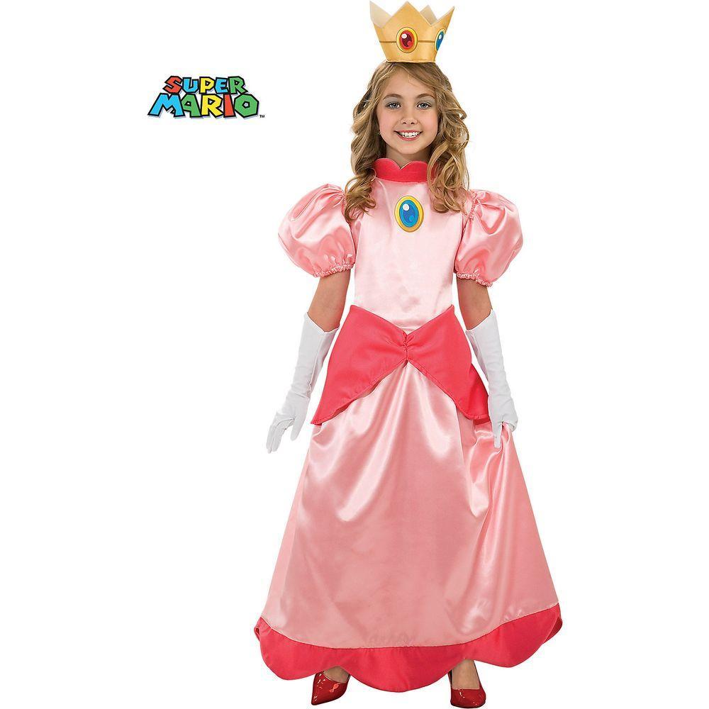 Disguise Medium Girls Deluxe Super Mario Princess Peach Costume