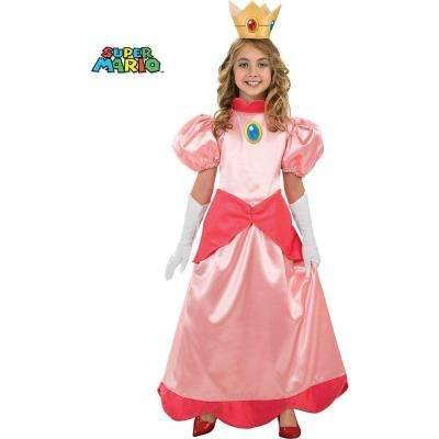Girls Deluxe Super Mario Princess Peach Costume