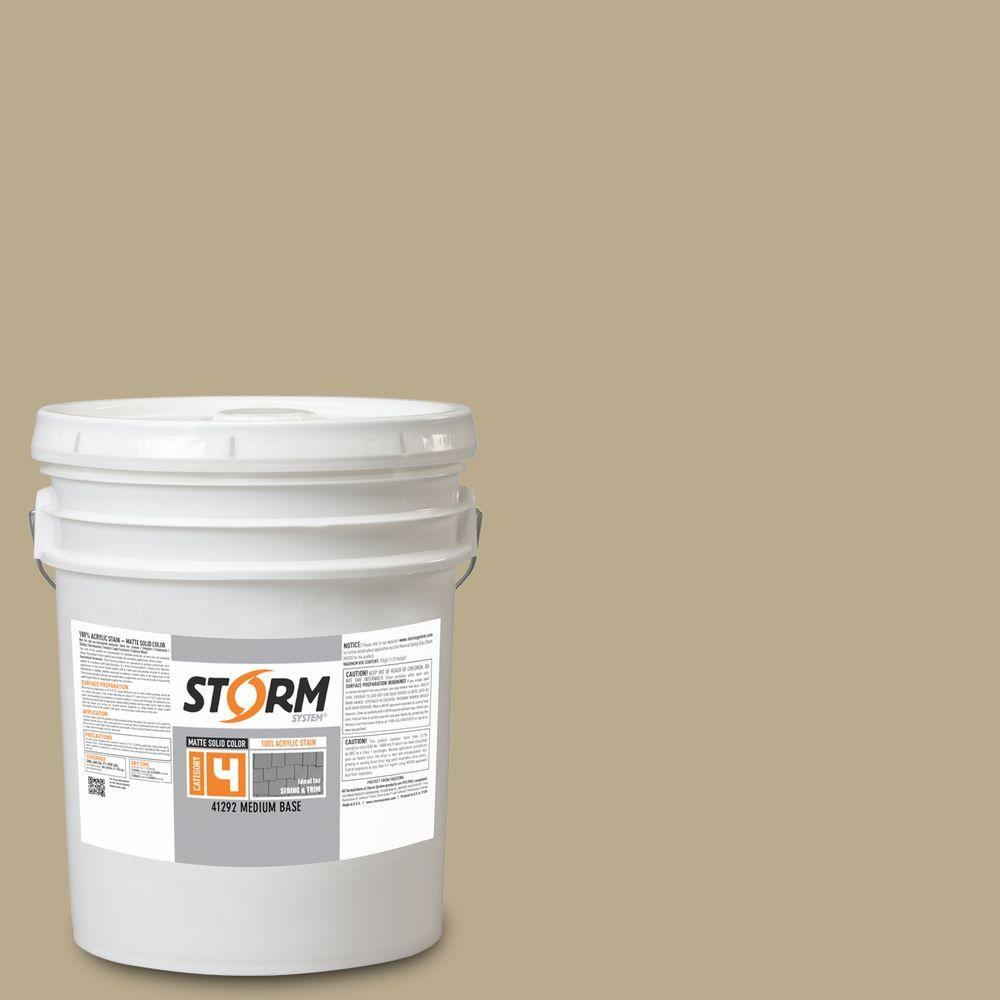 Storm System Category 4 5 gal. English Tweed Matte Exterior Wood Siding 100% Acrylic Latex Stain