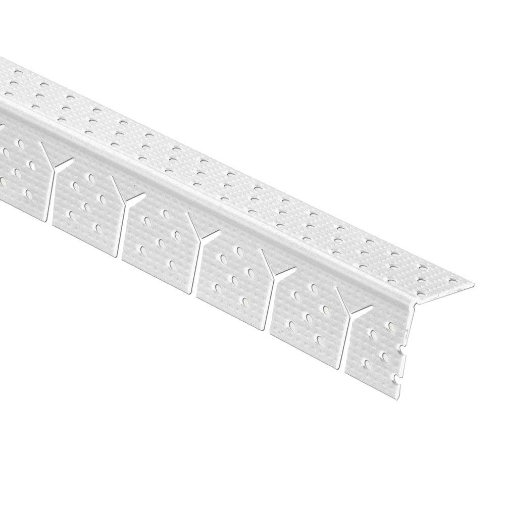 Gibraltar Building Products 1-1/4 in. x 10 ft. Vinyl Arch Corner Bead