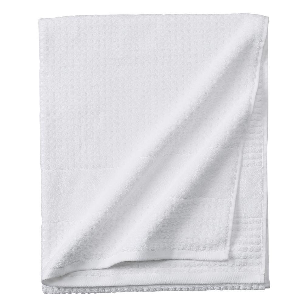Home Decorators Collection Fairhope 1-Piece Turkish Bath Towel in White