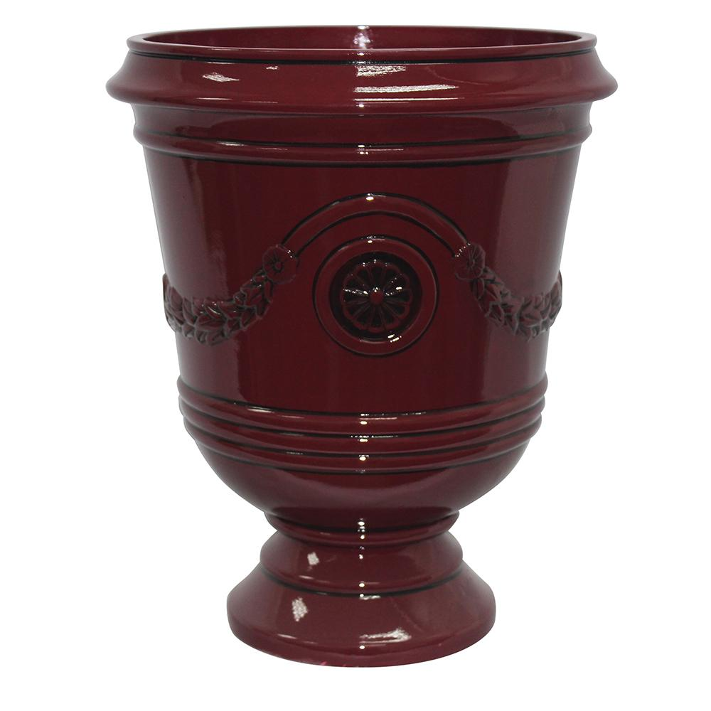 Southern Patio Porter 15.50 in. x 18 in. Oxblood Resin Composite Urn