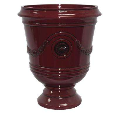 Porter 15.50 in. x 18 in. Oxblood Resin Composite Urn