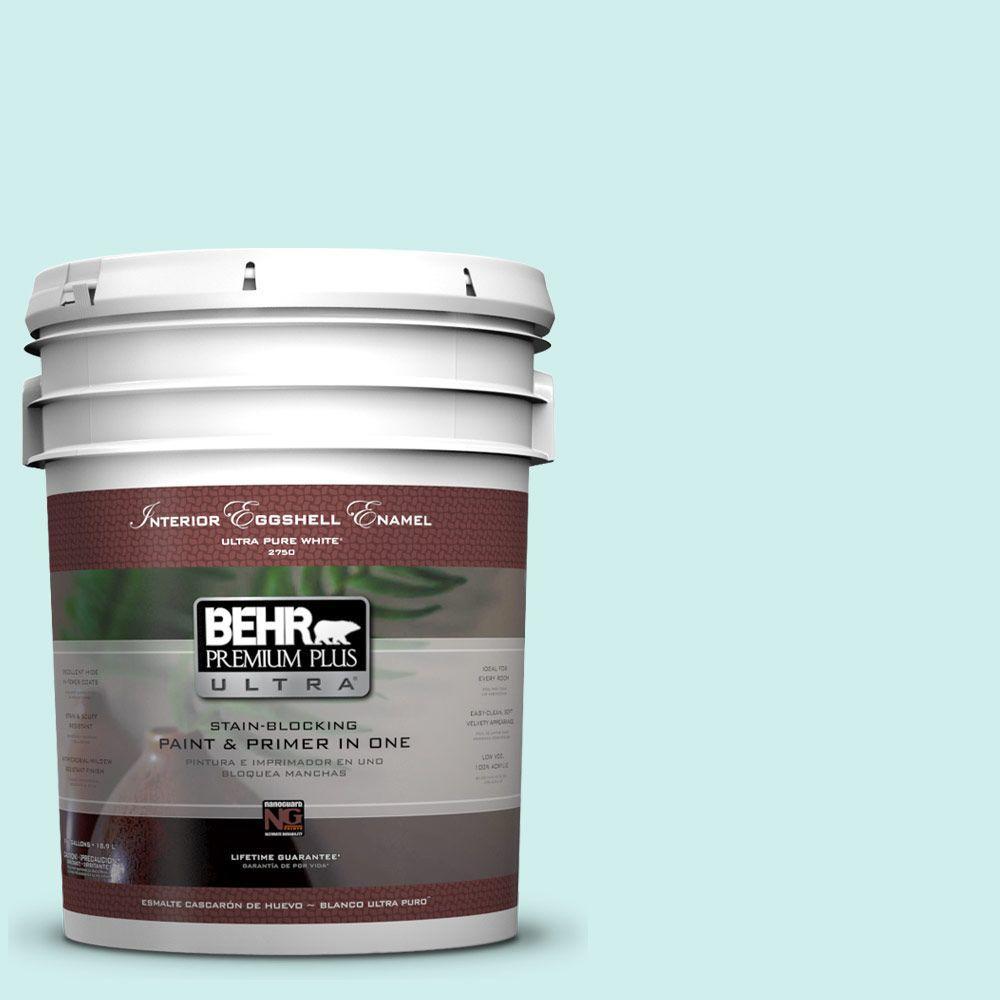 BEHR Premium Plus Ultra 5-gal. #490A-1 Teal Ice Eggshell Enamel Interior Paint