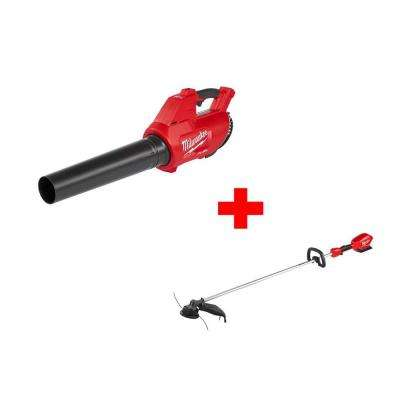 M18 FUEL 100 MPH 450 CFM 18-Volt Lithium-ion Brushless Cordless Handheld Blower with M18 FUEL String Trimmer