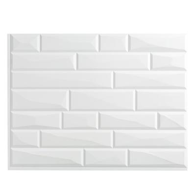 Vista 18.25 in. W x 24.25 in. H Vinyl Backsplash in Gloss White