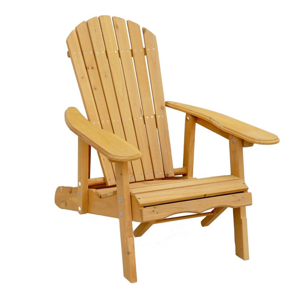 Beau Leisure Season Reclining Patio Adirondack Chair With Pull Out Ottoman