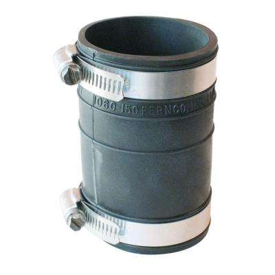 1-1/2 in. x 1-1/2 in. PVC Plastic Socket to Plastic Socket Flexible Coupling