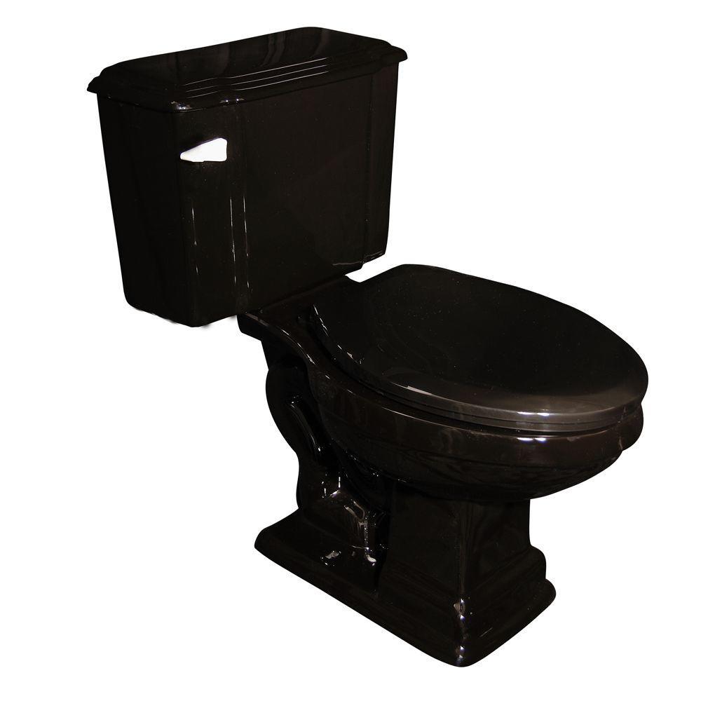 Pegasus Constitution 2-Piece Elongated Toilet in Black-DISCONTINUED