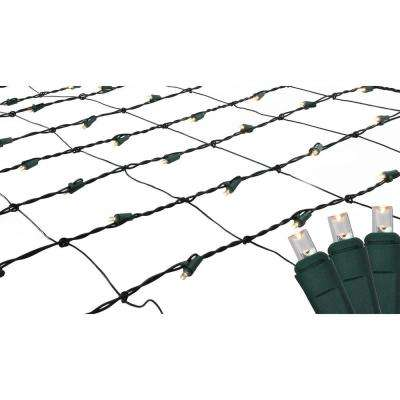 4 ft. x 6 ft. Warm White LED Net Style Christmas Lights with Green Wire