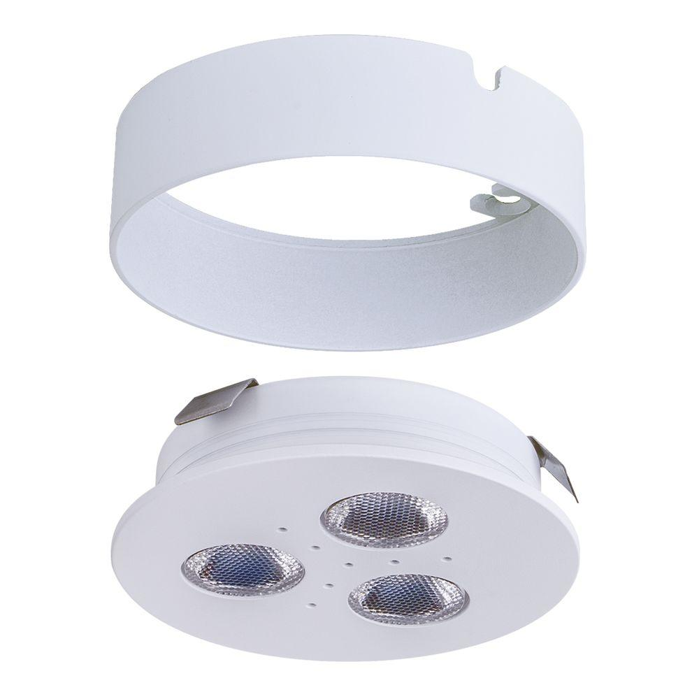 Pro-Grade Bright LED White Matte White Dimmable Puck Light/Recessed Downlight