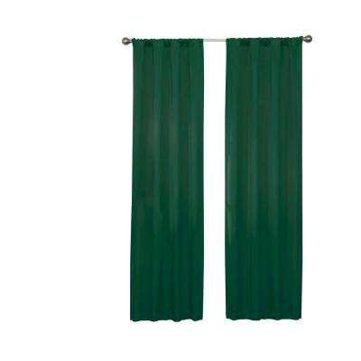 Darrell Thermaweave Blackout Window Curtain Panel in Emerald - 37 in. W x 63 in. L