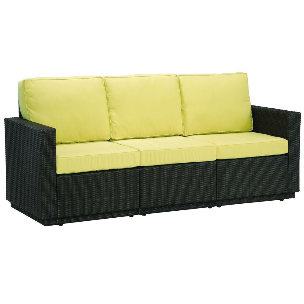 Home Styles Riviera Harvest 3-Seat Patio Sofa-DISCONTINUED