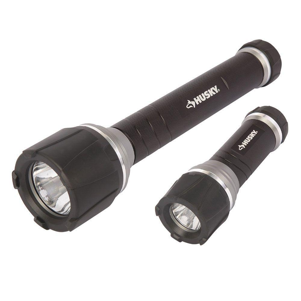 High Power Unbreakable Aluminum Flashlight Combo (2-Pack)