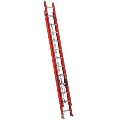 24 ft. Fiberglass Extension Ladder with 300 lbs. Load Capacity Type IA Duty Rating