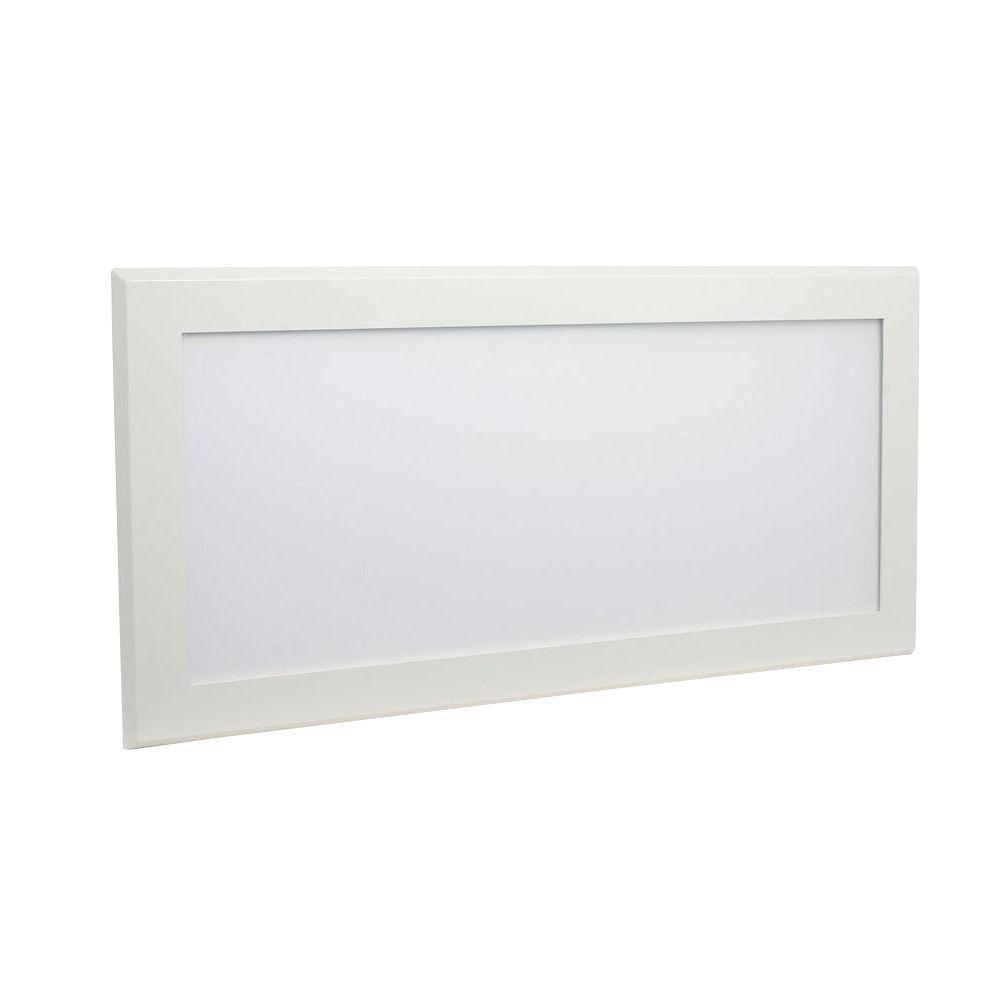 Pixi 1 ft. x 2 ft. White Integrated LED Flat Light Surface Mount