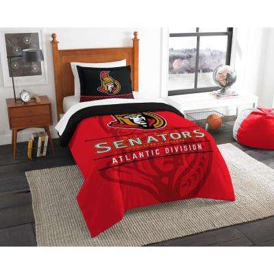 Senators Draft 2-Piece Multi-Color Polyester Twin Comforter Set