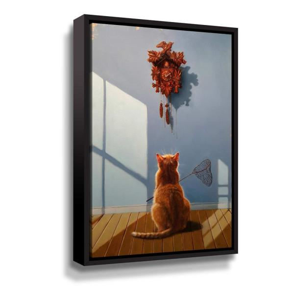 ArtWall A timely lunch' by Lucia Heffernan Framed Canvas Wall Art