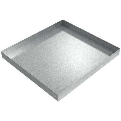 27 in x 25 in x 2.5 in Compact Washer Floor Tray Galvanized Steel