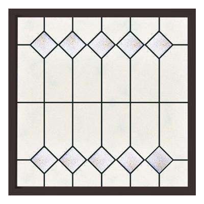 47.5 in. x 47.5 in. Mission Decorative Glass Picture Vinyl Window - Bronze